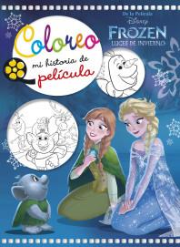 Frozen. Luces de invierno. Coloreo mi historia de película