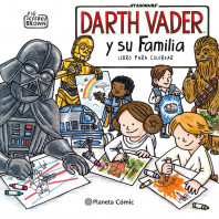Star Wars Darth Vader y su familia. Libro para colorear