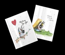 Pack 2 cuadernos cosidos Aitor Saraiba Waiting y Crece