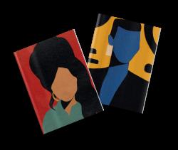 Pack 2 cuadernos cosidos Coco Dávez Amy y Grace